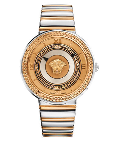 Versace Analog V-Metal Icon Two-Tone Bracelet Watch-NO COLOR-One Size