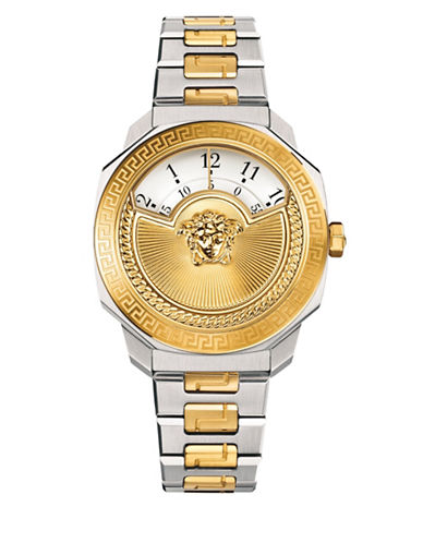 Versace Analog Dylos Icon Two-Tone Bracelet Strap Watch-NO COLOR-One Size