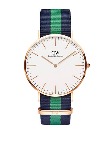 Daniel Wellington Classic Nylon Band Watch-MULTI-One Size