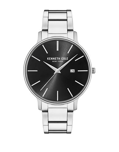 Kenneth Cole New York Analog KC15059002 Stainless Steel Bracelet Watch-BLACK-One Size