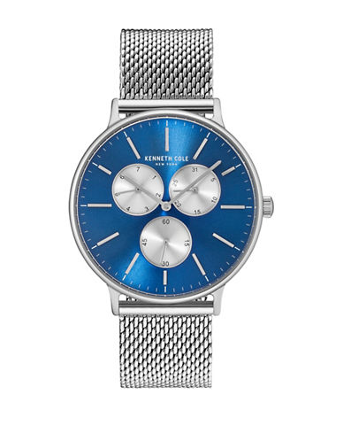 Kenneth Cole New York KC14946011 Stainless Steel Mesh Bracelet Watch-BLUE-One Size