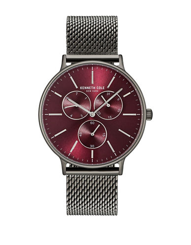 Kenneth Cole New York KC14946012 Stainless Steel Mesh Bracelet Watch-MAROON-One Size