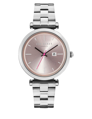 Ted Baker London Analog Ava Stainless Steel Bracelet Watch-PINK-One Size