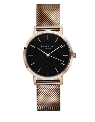 Rosefield Tribeca Analog Rose Goldtone Mesh Bracelet Watch-ROSE GOLD-One Size