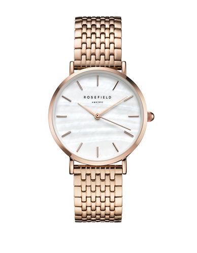 Rosefield Upper East Side Rose Goldtone Metal Link Bracelet Watch-ROSEGOLD-One Size