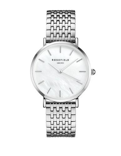 Rosefield Upper East Side Metal Link Bracelet Watch-SILVER-One Size