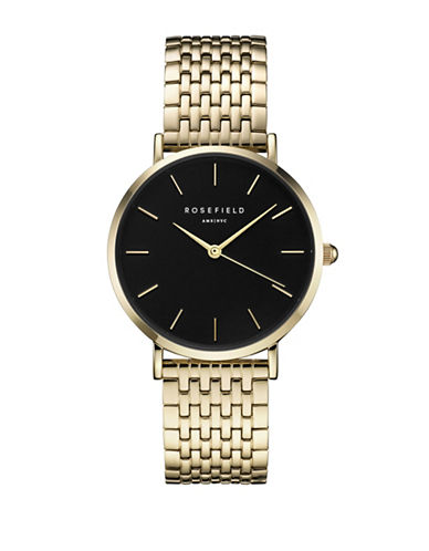 Rosefield Upper East Side Goldtone Metal Link Bracelet Watch-GOLD-One Size
