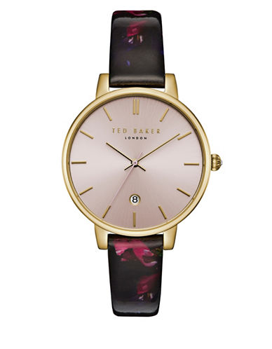 Ted Baker London Kate TEC0025001 Leather Strap Watch-PINK-One Size
