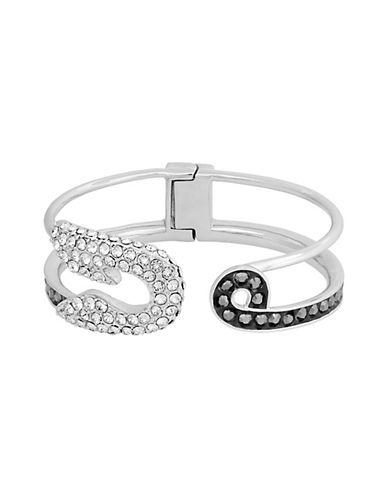 Safety Pin hinge cuff - Metallic Karl Lagerfeld