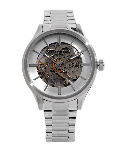 Kenneth Cole New York Stainless Steel Automatic Bracelet Watch-SILVER-One Size