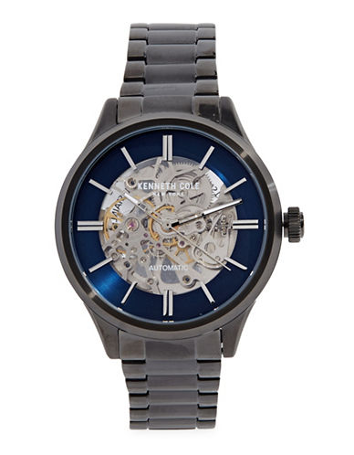 Kenneth Cole New York Stainless Steel Automatic Bracelet Watch-GUNMETAL-One Size