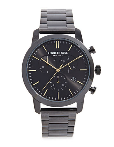Kenneth Cole New York Chronograph Stainless Steel Bracelet Watch-GUNMETAL-One Size