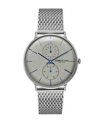 Kenneth Cole New York Silvertone KC15188002 Analog Watch-SILVER-One Size