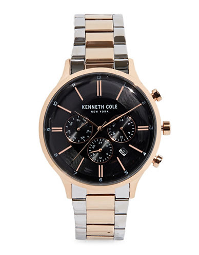 Kenneth Cole New York Chronograph Two-Tone Stainless Steel Bracelet Watch-MULTI-One Size