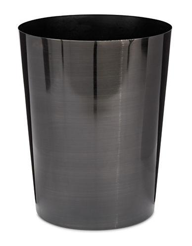 Mon Tex Metal Waste Basket-TITANIUM-One Size