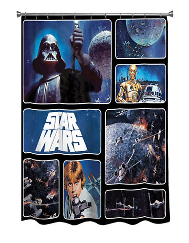 Mon Tex Classic Star Wars Shower Curtain Panel-MULTI-One Size