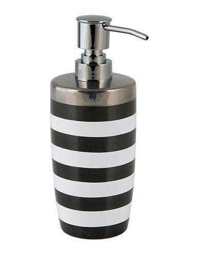 Mon Tex Derby Striped Ceramic Lotion Pump-BLACK/WHITE-One Size