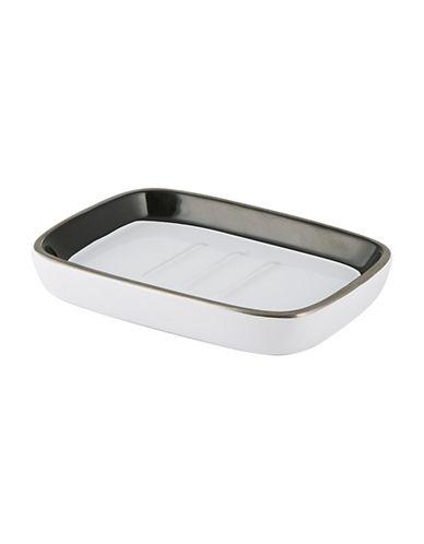 Mon Tex Derby Ceramic Soap Dish-BLACK/WHITE-One Size