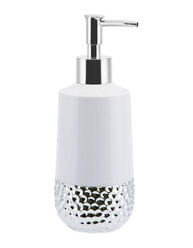 Mon Tex Titus Ceramic & Silver Lotion Pump-WHITE/SILVER-One Size