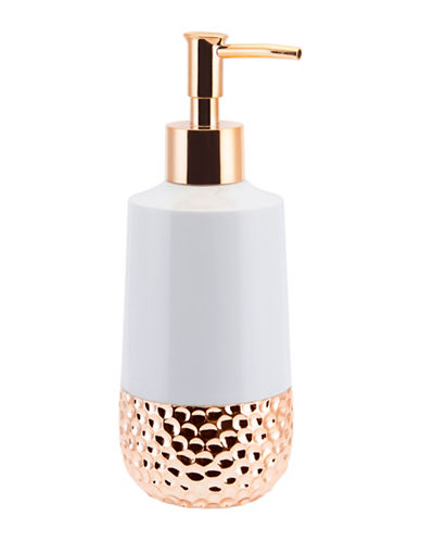 Mon Tex Titus Ceramic & Rose Gold Lotion Pump-WHITE/ROSE GOLD-One Size