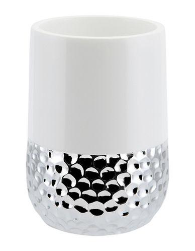 Mon Tex Titus Ceramic & Silver Tumbler-WHITE/SILVER-One Size