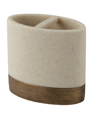 Mon Tex Dany Stone-Effect Toothbrush Holder-BEIGE-One Size