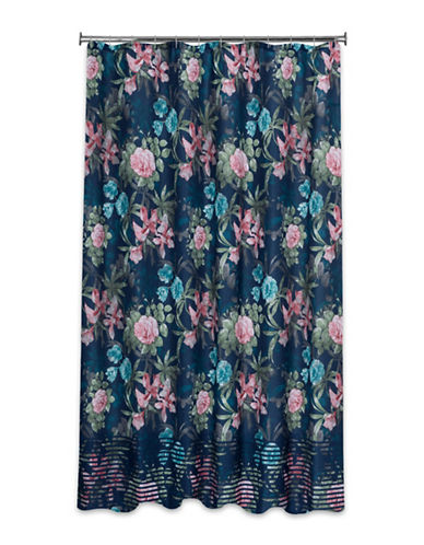 Mon Tex Giovanna Floral Shower Curtain-BLUE-One Size