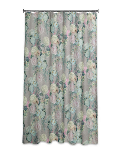Mon Tex Floral Shower Curtain-GREEN-One Size