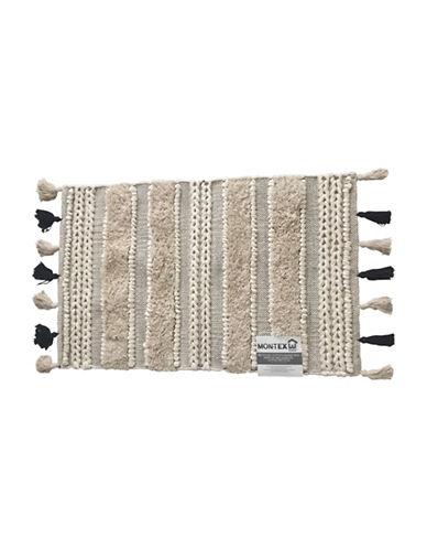 Mon Tex Striped Tassel Rug-BEIGE-One Size