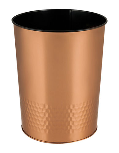 Mon Tex Hammered Wastebasket-ROSE GOLD-One Size
