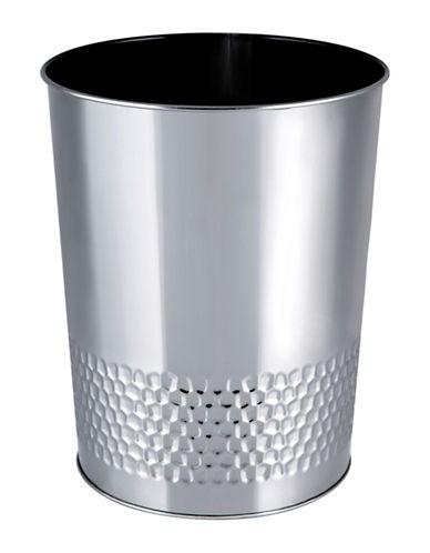 Mon Tex Hammered Wastebasket-SILVER-One Size