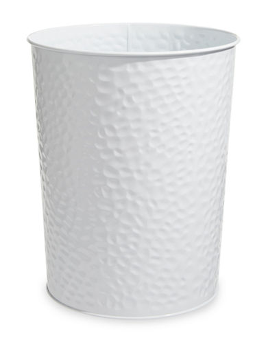Dh Vibe Hammered Waste Bin-WHITE-One Size