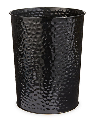 Dh Vibe Hammered Waste Bin-BLACK-One Size