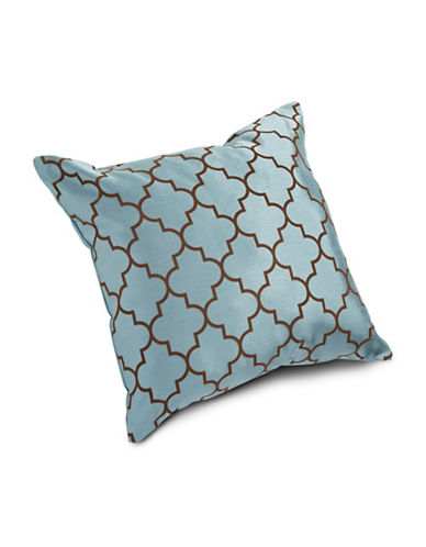 Miscellaneous Flocked Lattice Cushion-SLATE-18x18