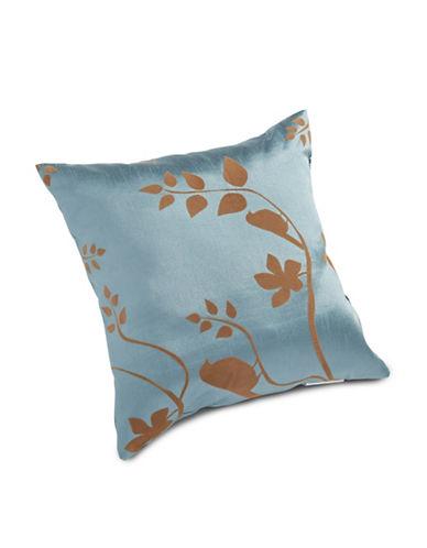 Miscellaneous Flocked Botanical Cushion-SLATE-18x18