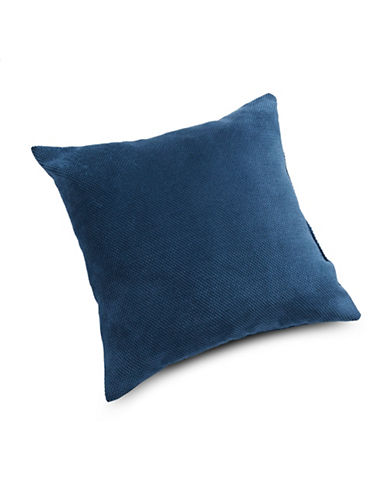 Home Outfitters Plush Waffle Cushion-NAVY BLUE-18x18