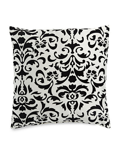 Home Outfitters Anna Flocked Cushion-WHITE-One Size