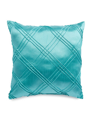 Home Outfitters Diamond Pleat Cushion-BLUE-One Size