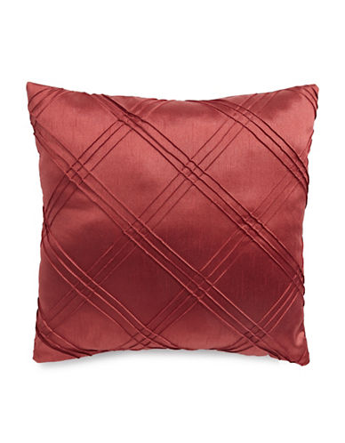 Home Outfitters Diamond Pleat Cushion-RED-One Size