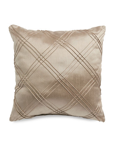 Home Outfitters Diamond Pleat Cushion-BROWN-One Size