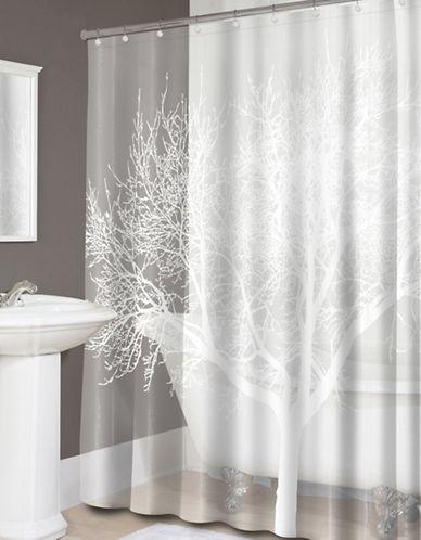 Splash Tree Shower Curtain-WHITE-One Size