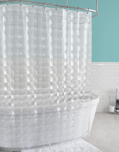 Splash Carrele PEVA Shower Curtain-CLEAR-One Size