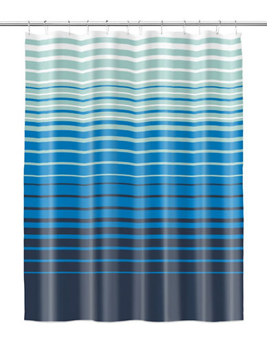 Splash Range Blue Shower Curtain with Hook-BLUE-One Size