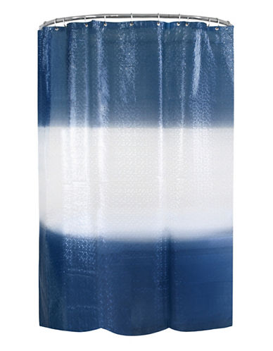 Splash Drizzle Ombre PEVA Shower Curtain-NAVY-One Size