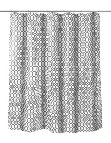 Splash Celtic Grey Shower Curtain with Hook-GREY-One Size