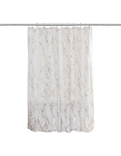 Splash Marble Shower Curtain-GREY-One Size