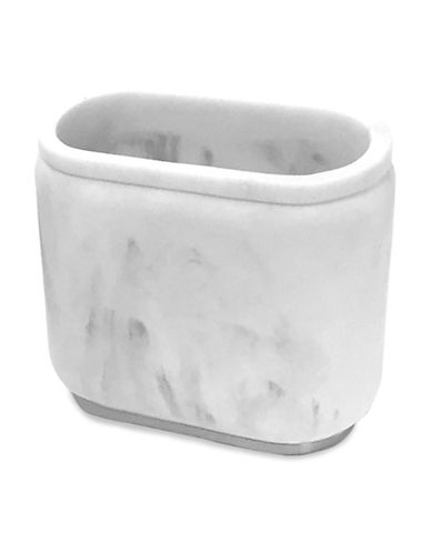 Splash Ceramic Marble Toothbrush Holder-GREY-One Size