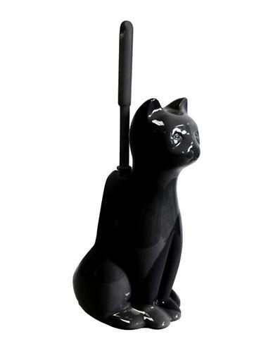Splash Cat Ceramic Toilet Brush-BLACK-One Size