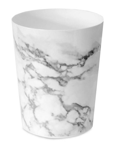 Splash Marble Wastebasket-GREY-One Size