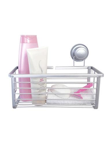 Splash Billy Aluminum Suction Shower Basket-GREY-One Size
